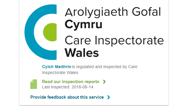 Care Inspectorate Wales widget